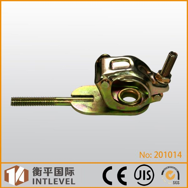 Single coupler with feather style bolt